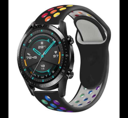 Strap-it® Strap-it® Huawei Watch GT sport band (kleurrijk zwart)