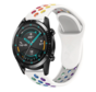 Strap-it® Huawei Watch GT sport band (kleurrijk wit)