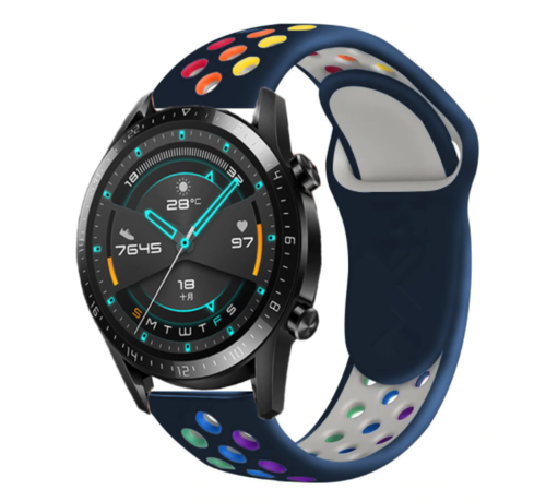 Strap-it® Strap-it® Huawei Watch GT sport band (kleurrijk donkerblauw)