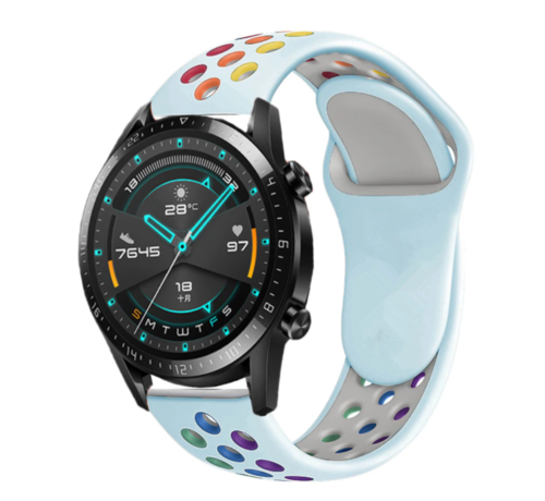 Strap-it® Strap-it® Huawei Watch GT sport band (kleurrijk lichtblauw)