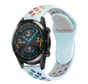 Strap-it® Huawei Watch GT sport band (kleurrijk lichtblauw)