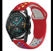 Strap-it® Huawei Watch GT sport band (kleurrijk rood)