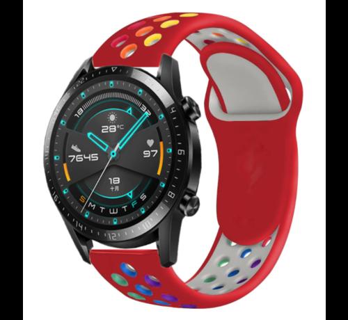 Strap-it® Strap-it® Huawei Watch GT sport band (kleurrijk rood)