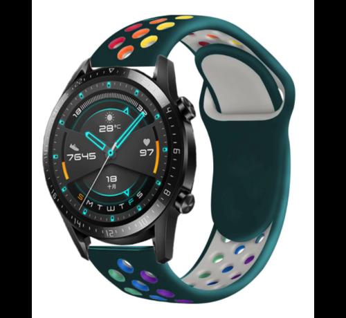 Strap-it® Strap-it® Huawei Watch GT sport band (kleurrijk dennengroen)