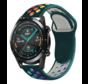 Strap-it® Huawei Watch GT sport band (kleurrijk dennengroen)