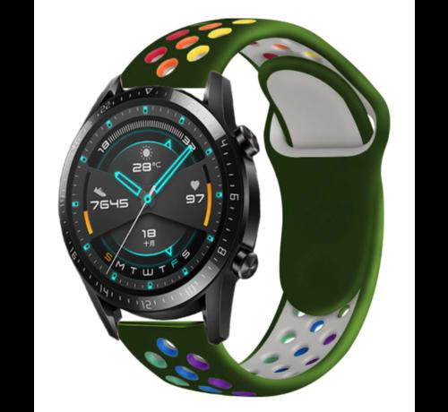 Strap-it® Strap-it® Huawei Watch GT sport band (kleurrijk legergroen)