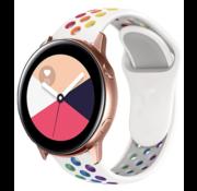 Strap-it® Samsung Galaxy Watch Active sport band (kleurrijk wit)