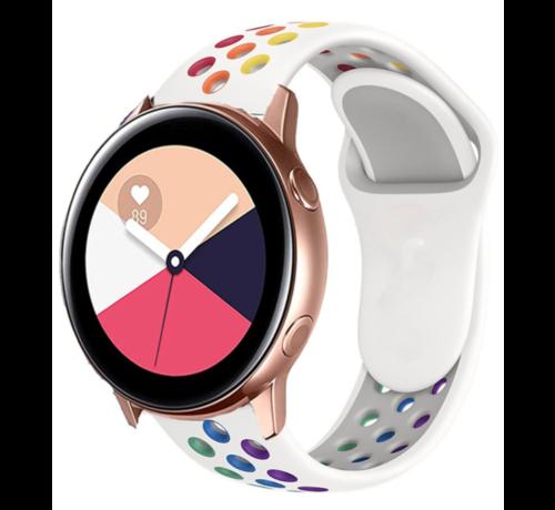 Strap-it® Strap-it® Samsung Galaxy Watch Active sport band (kleurrijk wit)