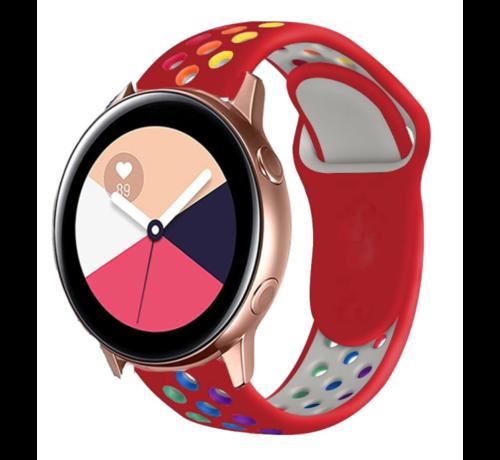 Strap-it® Strap-it® Samsung Galaxy Watch Active sport band (kleurrijk rood)