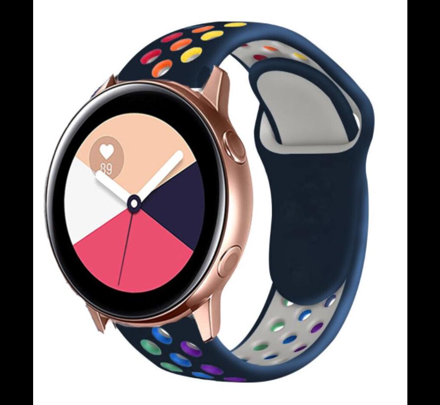 Strap-it® Samsung Galaxy Watch Active sport band (kleurrijk donkerblauw)