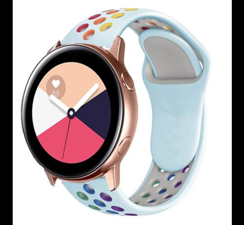 Strap-it® Strap-it® Samsung Galaxy Watch Active sport band (kleurrijk lichtblauw)