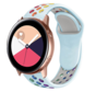 Strap-it® Samsung Galaxy Watch Active sport band (kleurrijk lichtblauw)