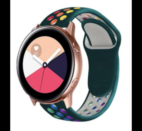 Strap-it® Strap-it® Samsung Galaxy Watch Active sport band (kleurrijk dennengroen)