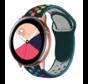 Strap-it® Samsung Galaxy Watch Active sport band (kleurrijk dennengroen)