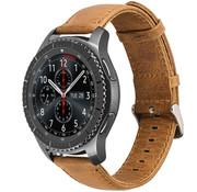 Samsung Galaxy Watch leren band 45mm / 46mm (bruin)