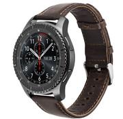 Samsung Galaxy Watch leren band 45mm / 46mm (donkerbruin)