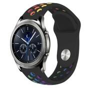 Strap-it® Samsung Gear S3 sport band (zwart kleurrijk)