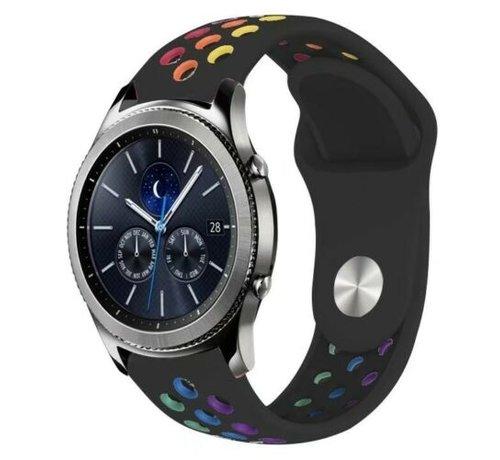 Strap-it® Strap-it® Samsung Gear S3 sport band (zwart kleurrijk)