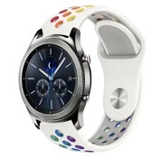Strap-it® Samsung Gear S3 sport band (wit kleurrijk)