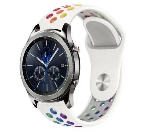 Strap-it® Strap-it® Samsung Gear S3 sport band (wit kleurrijk)