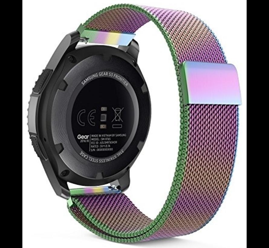 Strap-it® Samsung Gear S3 Milanese band (regenboog)