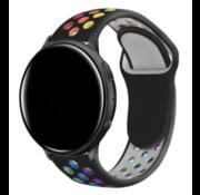 Strap-it® Garmin Vivoactive 3 sport band (zwart kleurrijk)