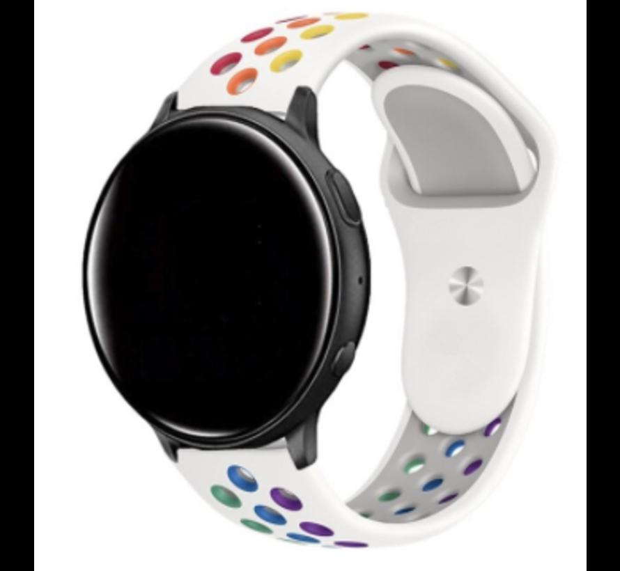 Strap-it® Garmin Vivoactive 3 sport band (wit kleurrijk)
