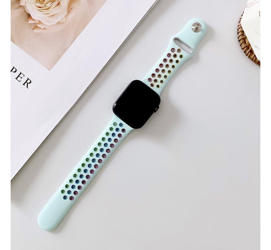 Strap-it® Apple Watch sport+ band (kleurrijk lichtblauw)
