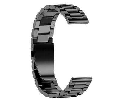 Strap-it® Strap-it® Stalen horlogeband 22mm - universeel - zwart
