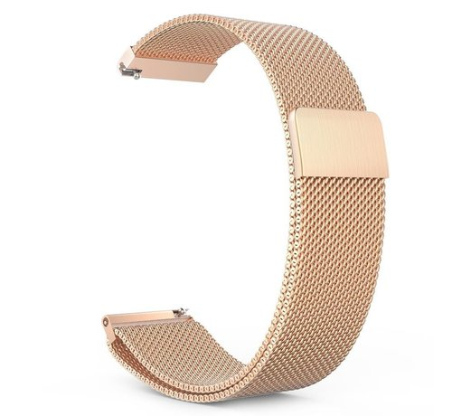 Strap-it® Strap-it® Milanese horlogeband 22mm - universeel - rosé goud