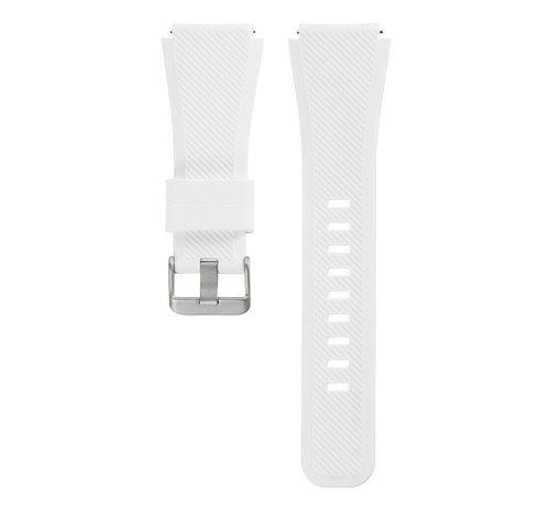Strap-it® Strap-it® Siliconen horlogeband 20mm - universeel - wit