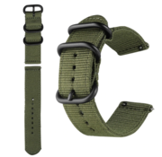 Strap-it® Nylon horlogeband 20mm - universeel - groen