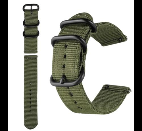 Strap-it® Strap-it® Nylon horlogeband 20mm - universeel - groen