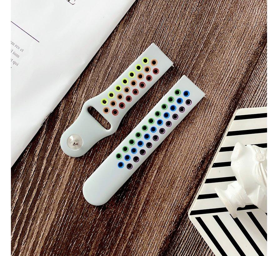 Strap-it® Xiaomi Amazfit GTS sport band (kleurrijk wit)