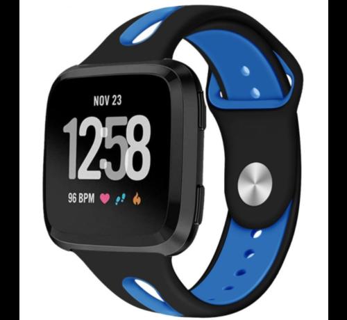 Strap-it® Strap-it® Fitbit Versa duo sport band (zwart/blauw)