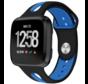 Strap-it® Fitbit Versa duo sport band (zwart/blauw)