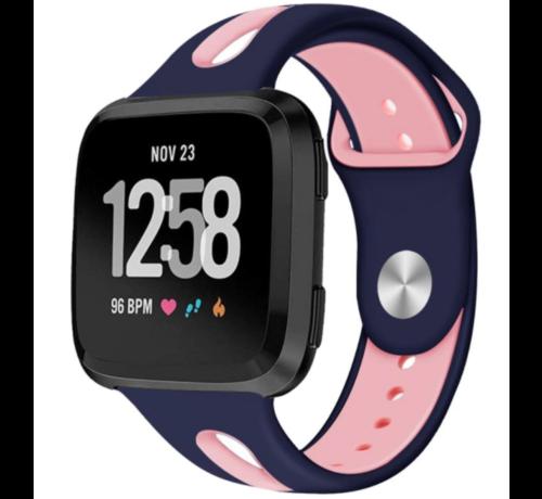 Strap-it® Strap-it® Fitbit Versa duo sport band (donkerblauw/roze)