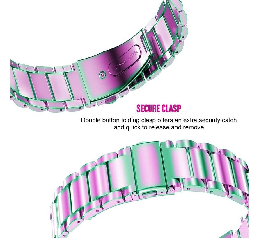 Strap-it® Xiaomi Amazfit GTR stalen band (regenboog)