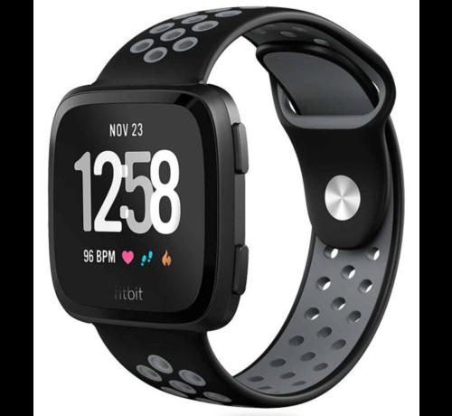 Strap-it® Strap-it® Fitbit Versa sport band (zwart/grijs)