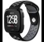 Strap-it® Fitbit Versa sport band (zwart/grijs)