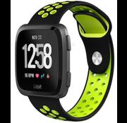 Strap-it® Fitbit Versa sport band (zwart/fluocent)
