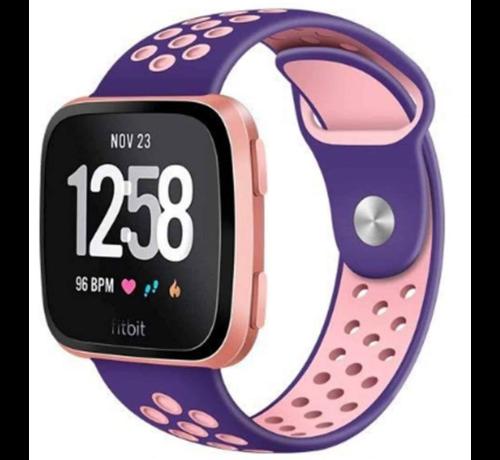 Strap-it® Strap-it® Fitbit Versa sport band (paars/roze)