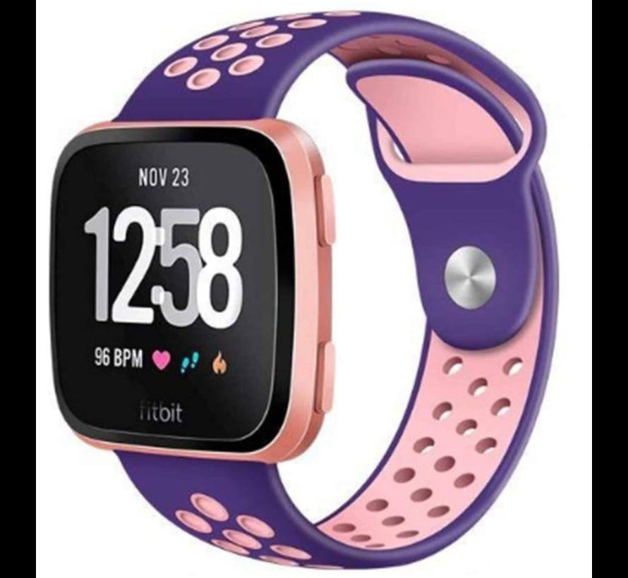 Strap-it® Fitbit Versa sport band (paars/roze)