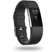 Strap-it® Fitbit Charge 2 siliconen bandje (zwart)