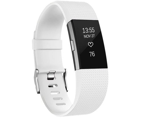 Strap-it® Strap-it® Fitbit Charge 2 siliconen bandje (wit)