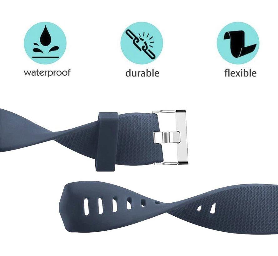Strap-it® Fitbit Charge 2 siliconen bandje (grijsblauw)