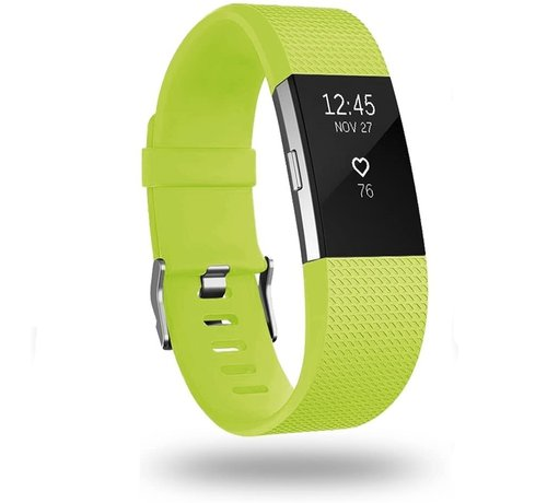 Strap-it® Strap-it® Fitbit Charge 2 siliconen bandje (lichtgroen)