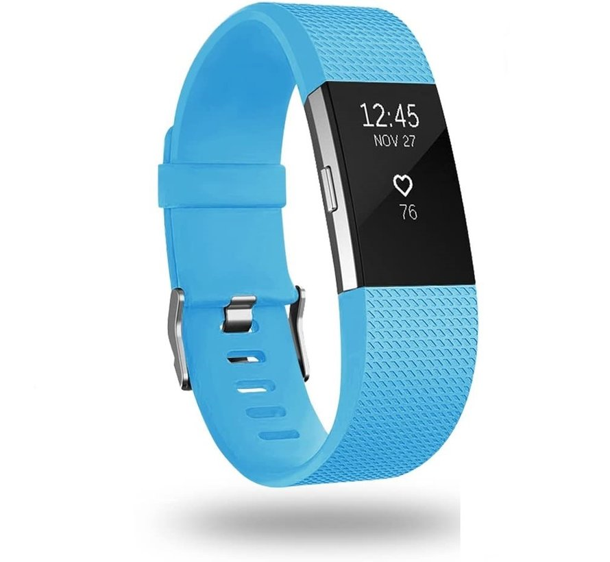 Strap-it® Fitbit Charge 2 siliconen bandje (blauw)