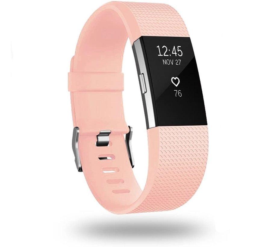 Strap-it® Fitbit Charge 2 siliconen bandje (roze)