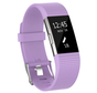 Strap-it® Fitbit Charge 2 siliconen bandje (lichtpaars)